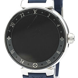 LOUIS VUITTON Tambour Horizon Steel Rubber Quartz Mens Watch QA050Z