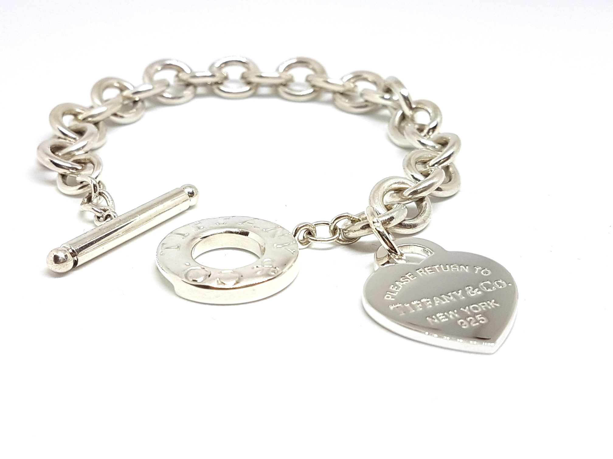 09c13324b3ce2 Tiffany & Co. Return To Tiffany 925 Sterling Silver Heart Tag Toggle  Bracelet