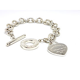 Tiffany & Co. Return To Tiffany 925 Sterling Silver Heart Tag Toggle Bracelet
