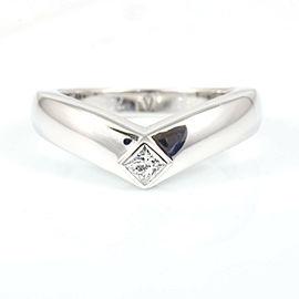 Cartier 18k White Gold Diamond Triandle V-Shaped Ring