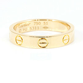 CARTIER 18K Rose Gold Mini Love Ring CHAT-127