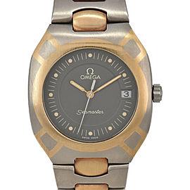 OMEGA Seamaster Polaris Date gray Dial K18/Titanium Quartz Men's Watch