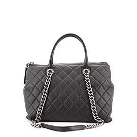 Chanel Boy Chained Tote Quilted Calfskin Medium