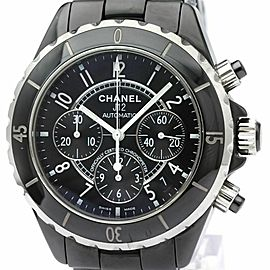 CHANEL J12 Chronograph Ceramic Automatic Mens Watch H0940