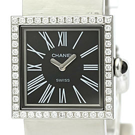 Polished CHANEL Mademoiselle Diamond Steel Quartz Ladies Watch H0875