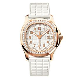 Patek Philippe Aquanaut 5068R-010 18K Rose Gold Rubber & Diamond 35.60mm Watch