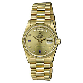 Rolex Day-Date 18238 18K Yellow Gold with Champagne Dial 36mm Mens Watch