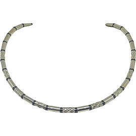 Tiffany & Co. Sterling Silver with Hematite Geometric Necklace