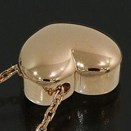 4℃ 18K Rose Gold Heart Design Pendant Necklace