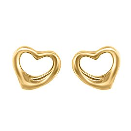 Tiffany & Co. 18k Gold Elsa Peretti Open Heart Earrings