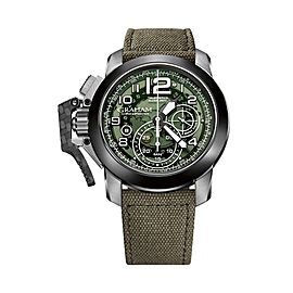Graham Chronofighter Steel And Target 2CCAC.G03A.T31S 47mm Mens Watch