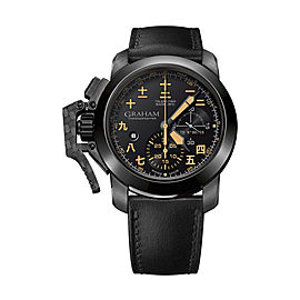 Graham Chronofighter Steel Black PVD 2CCAU.B28A.L44N 47mm Mens Watch
