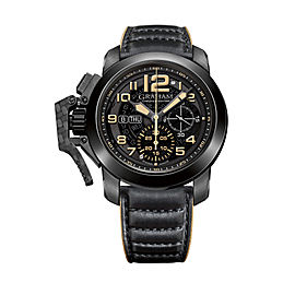 Graham Chronofighter Steel Black PVD 2CCAU.B32A.L144N 47mm Mens Watch