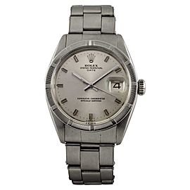Rolex Oyster Perpetual Date 1501 Stainless Steel 34mm Automatic Vintage Mens Watch
