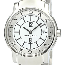 Polished BVLGARI Solotempo Steel Quartz Ladies Watch ST29S