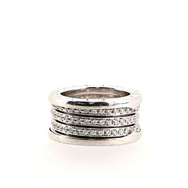 Bvlgari B.Zero1 Four Band Ring 18K White Gold and Diamonds 6.25 - 53