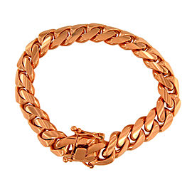 14K Rose Gold Cuban Link Bracelet