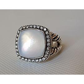 David Yurman Albion 14mm Moon Quartz (Moonstone) Diamond Ring