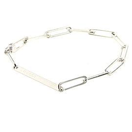 GUCCI 925 silver logo plate Chain bracelet