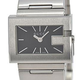 GUCCI 100L Black Dial Stainless Steel Quartz Women's Watch