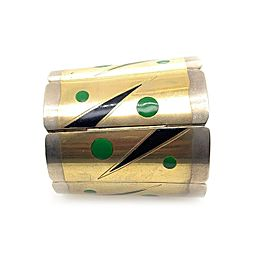 Art Deco Mixed Enamel and Metal Bracelet