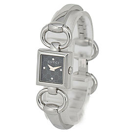 GUCCI Tornavoni 120 YA120516 4PDiamond Black Dial SS Quartz Ladies Watch