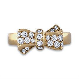 Van Cleef & Arpels 18K Yellow Gold Diamond Ring Size 7.5