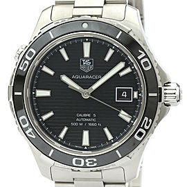 Polished TAG HEUER Aquaracer 500M Calibre 5 Automatic Watch WAK2110
