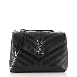 Saint Laurent LouLou Shoulder Bag Matelasse Chevron Leather Small
