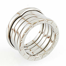 BVLGARI 18K white gold B.zero1 5 Band Ring CHAT-923
