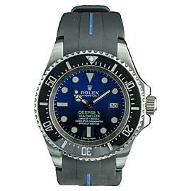 Rolex Sea Dweller Deepsea 116660 Stainless Steel / Rubber with Black Dial 44mm Mens Watch
