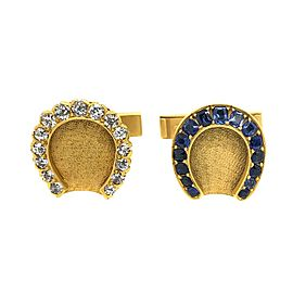 14 Karat Yellow Gold Antique Horse Shoe Cufflinks