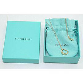 Tiffany & Co. 18k Yellow Gold Peretti Open Heart 16mm Pendant Necklace TNN-1813