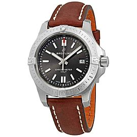 Breitling A17313101F1X2 Chronomat Colt 41MM Men's Brown Leather Watch