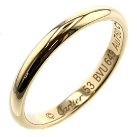 "CARTIER K18 Yellow Gold Wedding 0.1 ""W Ring TBRK-375"
