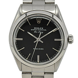 ROLEX Air king 5500 black Dial Cal.1520 Automatic Men's Watch