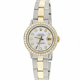 Rolex Datejust Ladies 2-Tone Gold/Steel 26MM Automatic Oyster Watch w/MOP Diamond Dial & Bezel