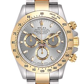 Rolex Daytona Steel Yellow Gold Slate Dial Mens Watch 116523 Box