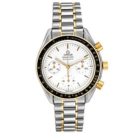 Omega Speedmaster Steel Yellow Gold Chronograph Mens Watch