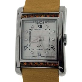 Bedat & Co. No.7 Stainless Steel With Orange Sapphires & Diamonds Womens Watch
