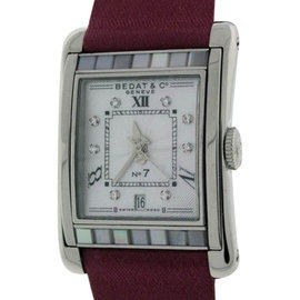 Bedat & Co. No.7 Stainless Steel Mother of Pearl & Diamonds Womens Watch