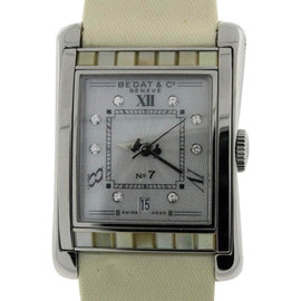 Bedat & Co. No.7 Stainless Steel With Mother of Pearl & Diamonds Womens Watch