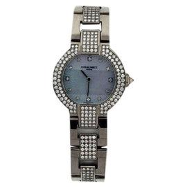 Chaumet Night Spirit 18K White Gold MOP & Diamond 30mm Watch