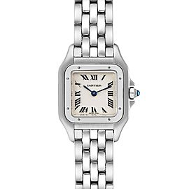 Cartier Panthere Ladies Small Stainless Steel Watch W25033P5 Box