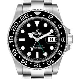 Rolex GMT Master II Black Dial Steel Mens Watch 116710 Box Card
