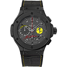 Hublot Nastie Big Bang 301.CI.8017.GR.NST11 Black Ceramic & Gummy Alligator Leather 44mm Mens Watch
