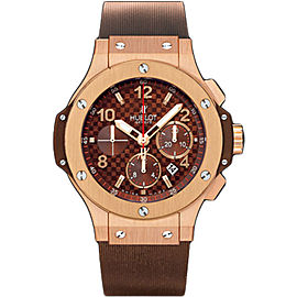 Hublot Big Bang 301.PC.1007.RX 18K Rose Gold & Rubber 44mm Mens Watch