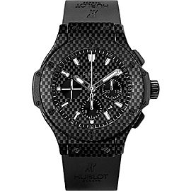 Hublot Big Bang 301.QX.1724.RX Black PVD Stainless Steel & Rubber with Black Carbon Fiber Dial Automatic 44mm Mens Watch