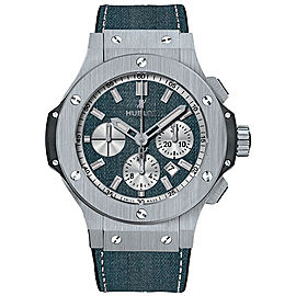 Hublot Big Bang Evolution 301.SX.2710.NR.JEANS Satin-Finished Stainless Steel & Denim Automatic 44mm Mens Watch