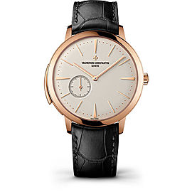 Vacheron Constantin Patrimony 30110/000R-9793 18K Pink Gold & Leather with Opaline Dial 41mm Mens Watch